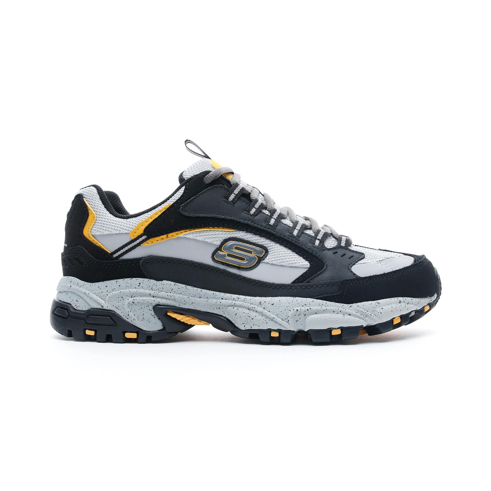 Skechers Stamina Gri - Siyah Erkek Spor Ayakkabı
