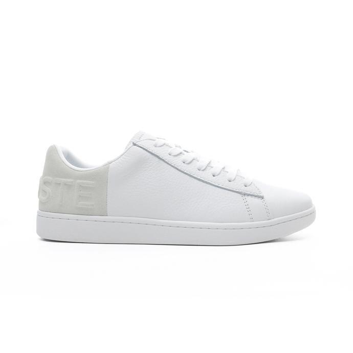 Lacoste Carnaby Evo Erkek Beyaz - Bej Spor Ayakkabı