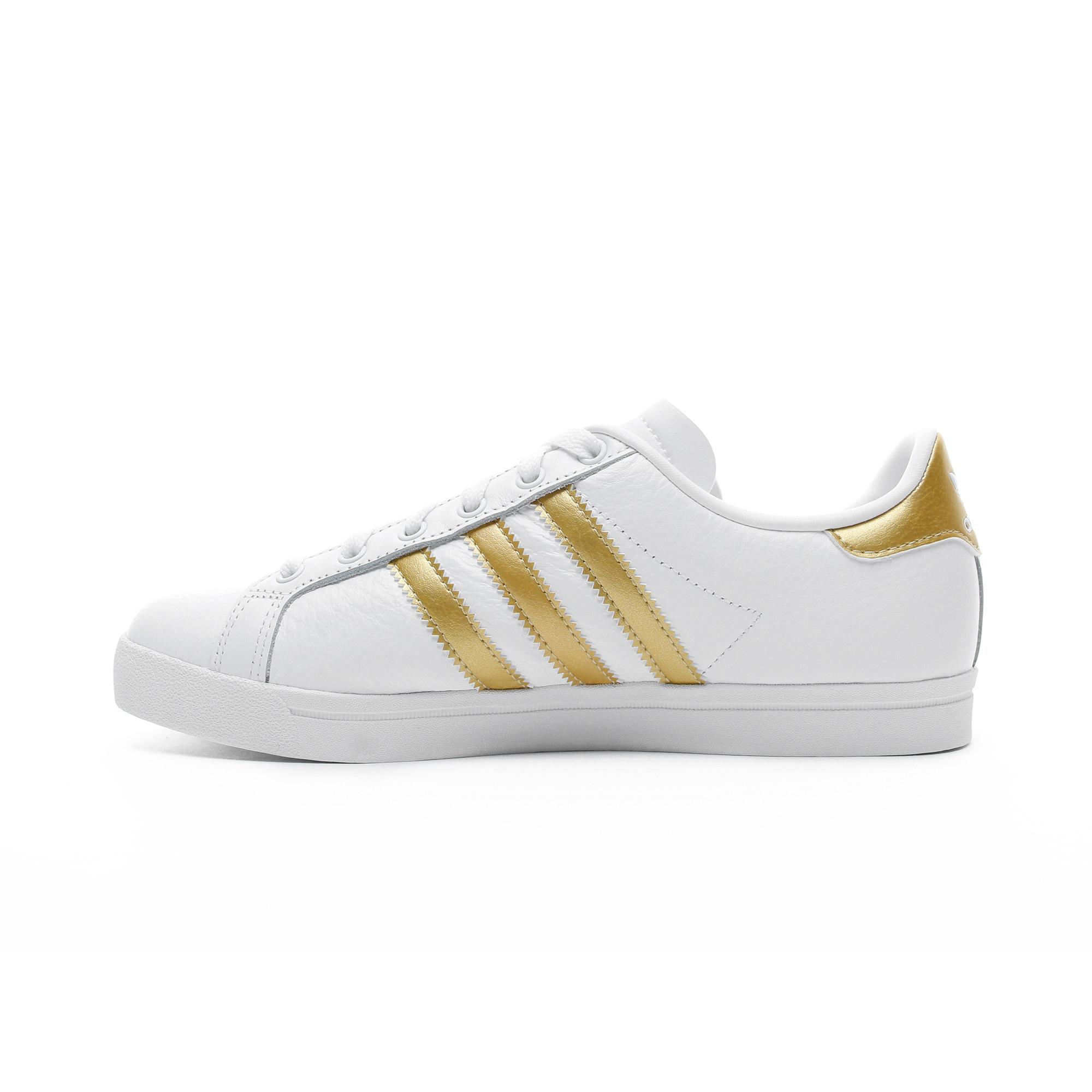 adidas Coast Star Kadın Beyaz - Altın Spor Ayakkabı