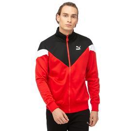 Puma Iconic MCS Track Erkek Kırmızı-Siyah Eşofman Üstü