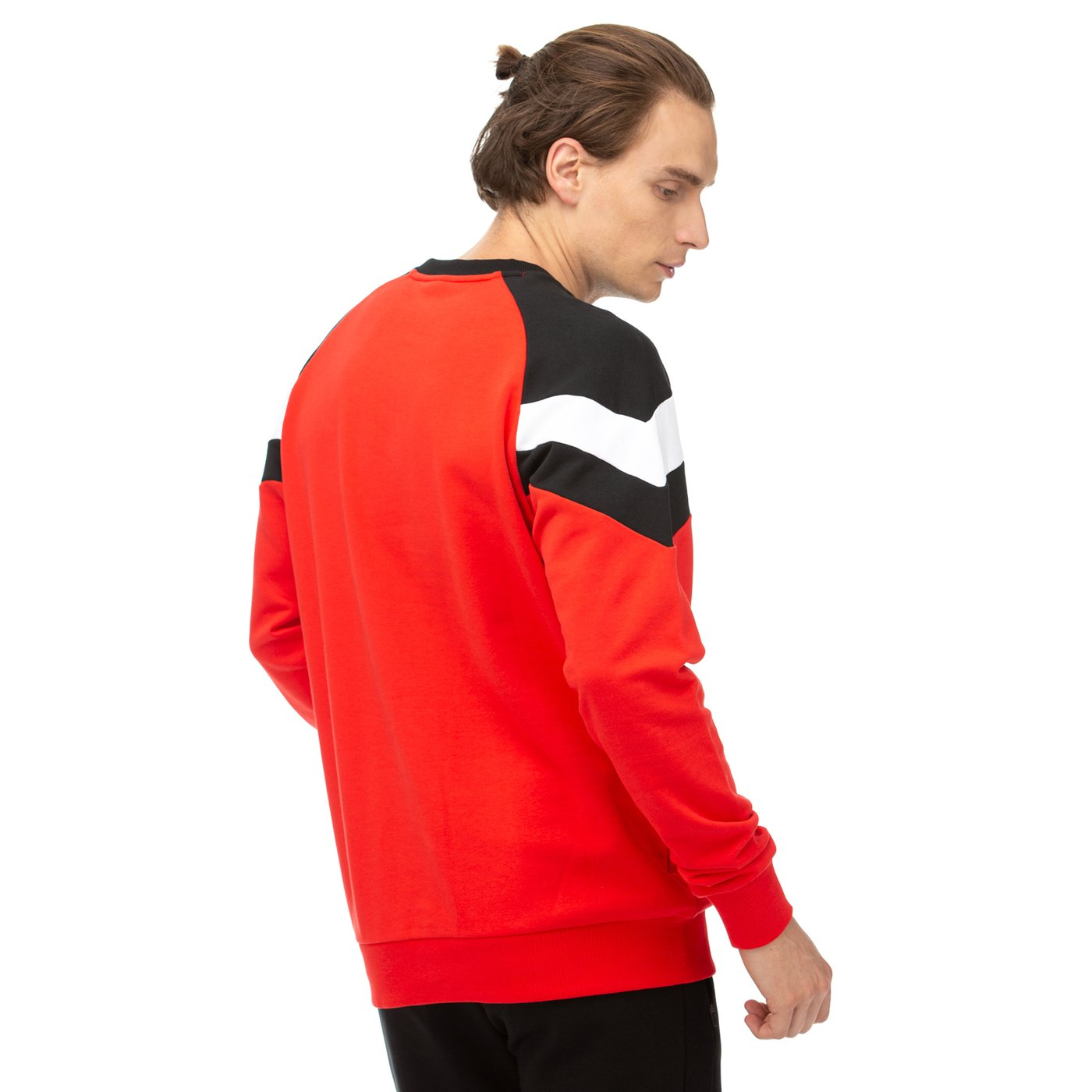 Puma Iconic MCS Crew Tr Erkek Kırmızı-Siyah Sweatshirt