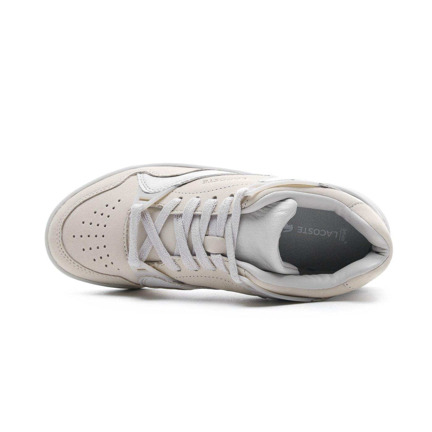 Lacoste Court Slam Kadın Bej Spor Ayakkabı
