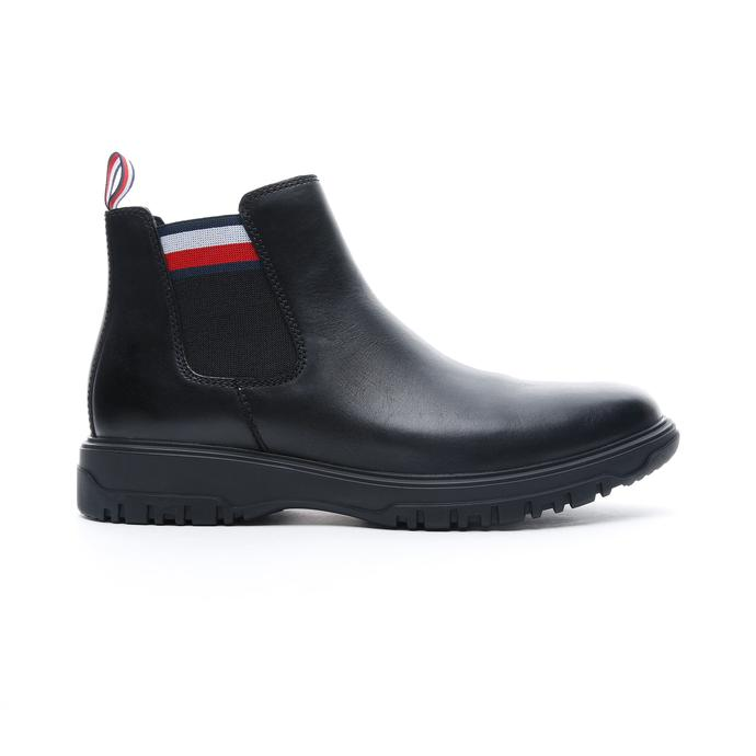 Tommy Hilfiger Cleated Outsole Chelsea Erkek Siyah Bot