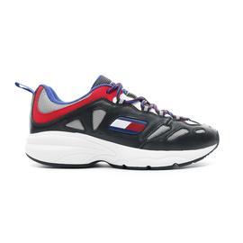Tommy Hilfiger Heritage Retro Erkek Siyah - Kırmızı Spor Ayakkabı