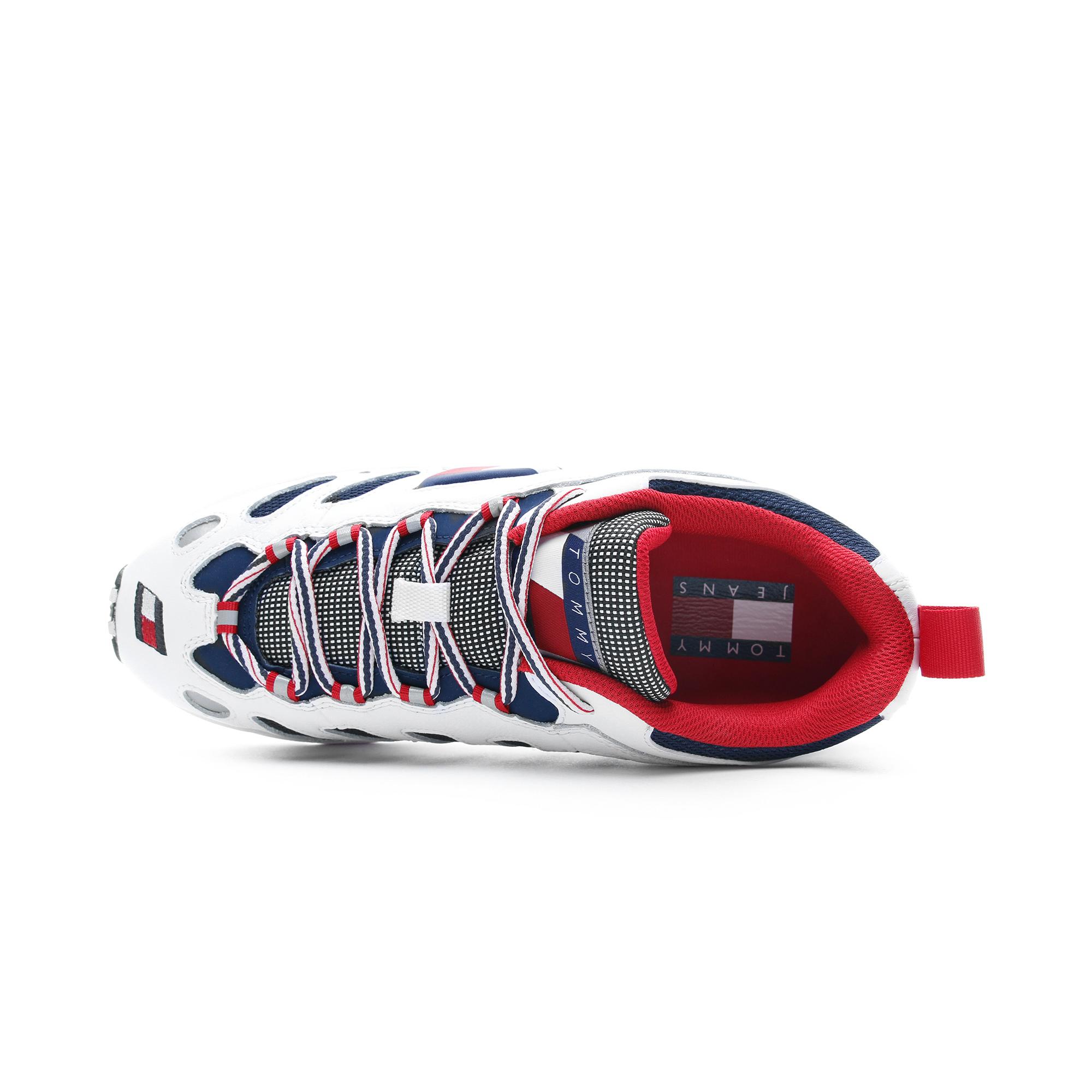 Tommy Hilfiger Heritage Retro Erkek Beyaz - Lacivert Spor Ayakkabı