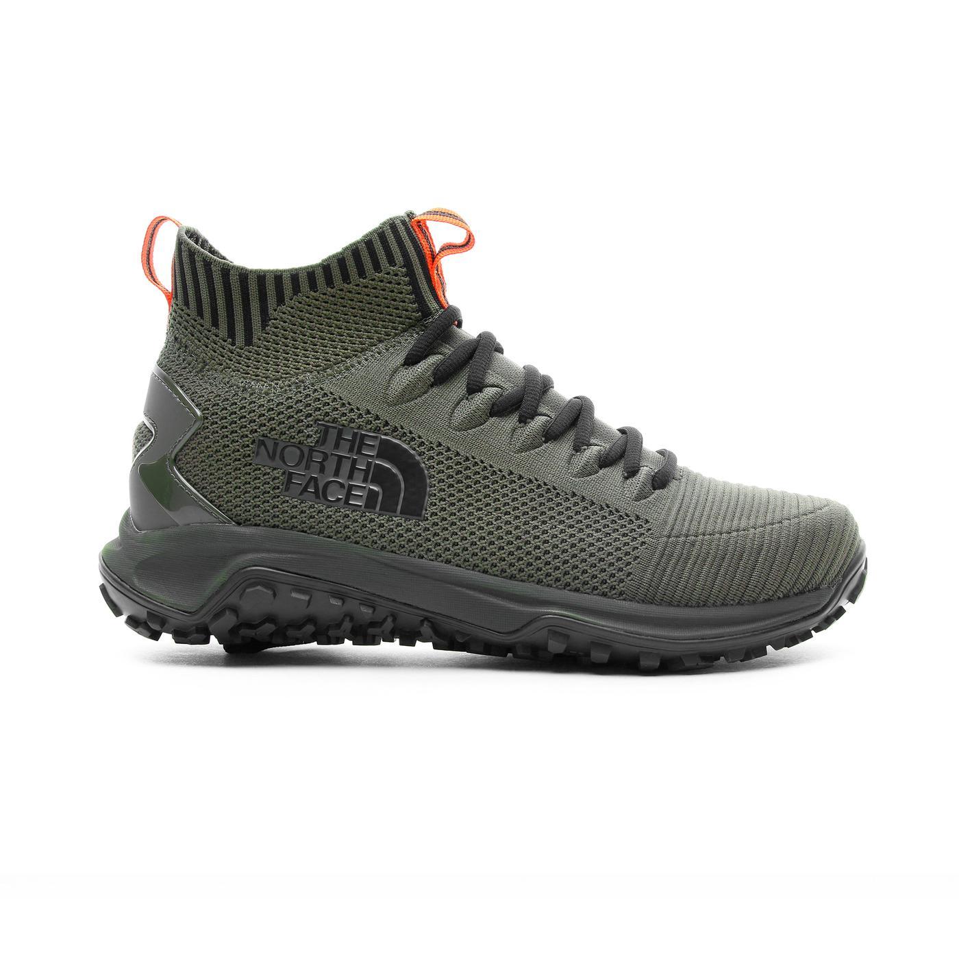 The North Face Erkek Truxel Mid Yeşil Doğa Yürüyüşü Ayakkabısı