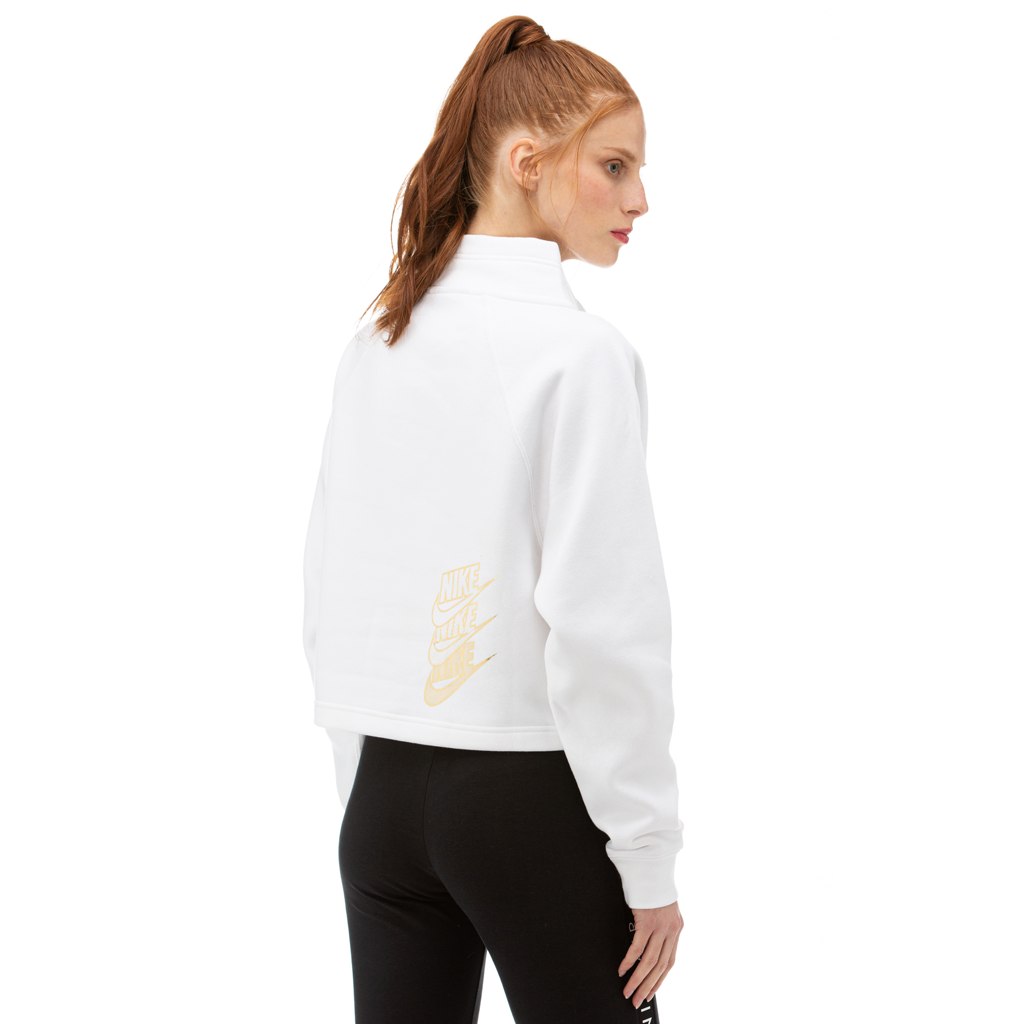 Nike Funnel Shine Beyaz Kadın Sweatshirt