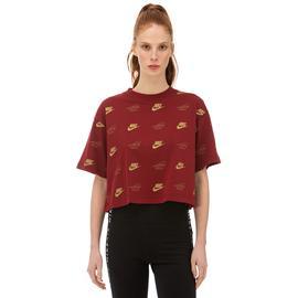 Nike Sportswear Kırmızı Kadın T-Shirt