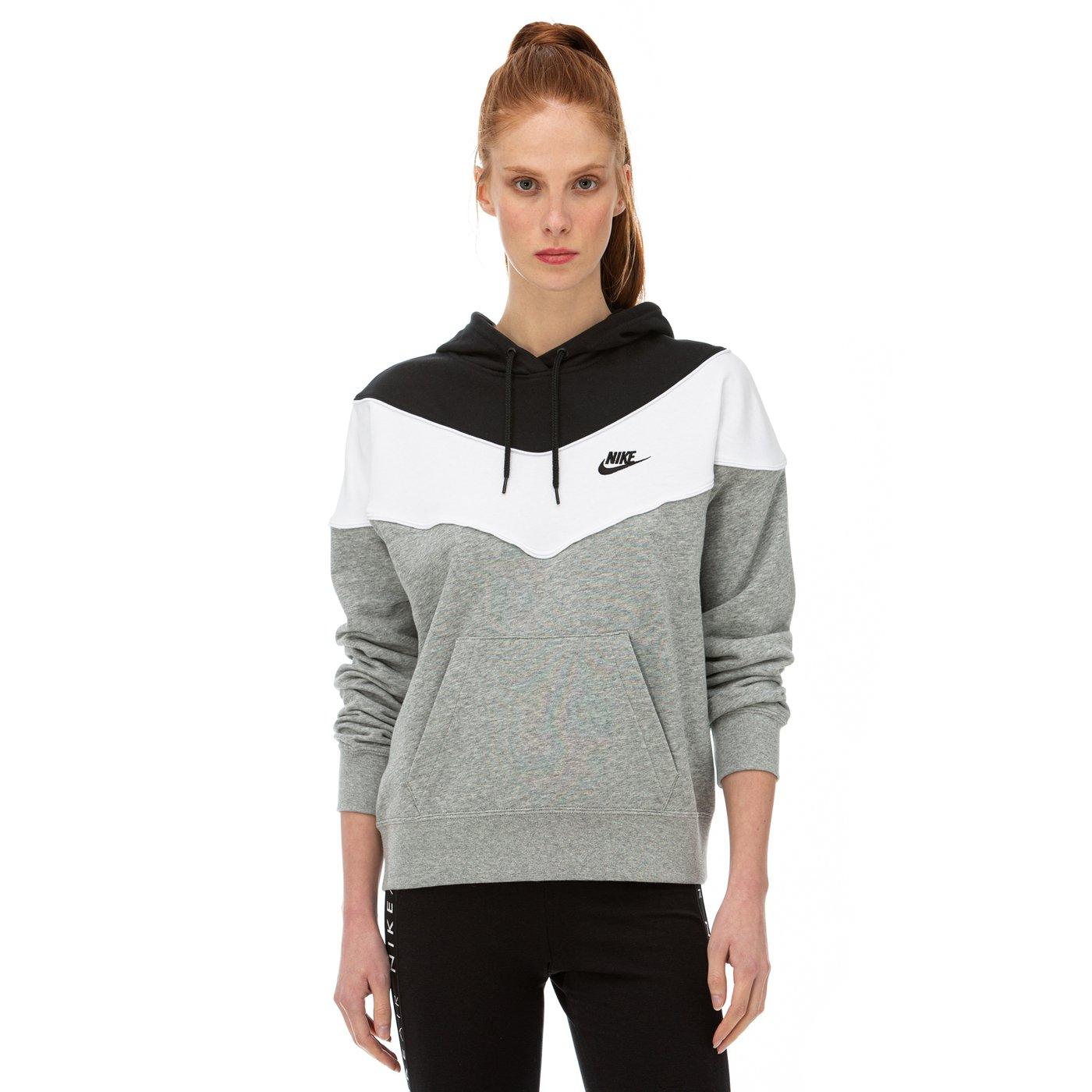 Nike Heritage Kadın Gri Sweatshirt