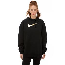 Nike Shine Siyah Kadın Kapüşonlu Sweatshirt