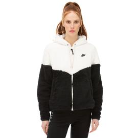 Nike Windrunner Siyah - Beyaz Kadın Fermuarlı Sweatshirt