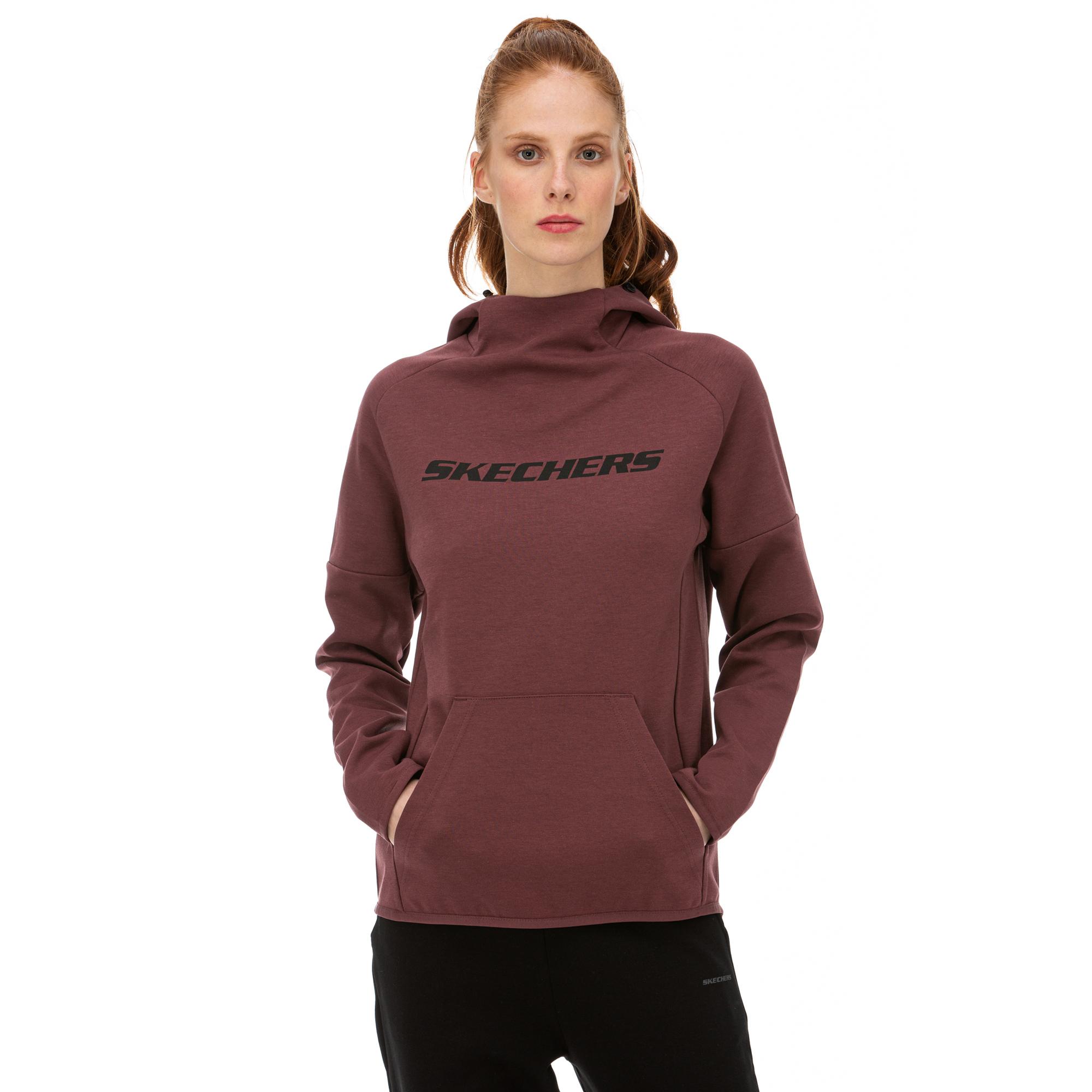 Skechers 2X I-Lock Bordo Kadın Sweatshirt