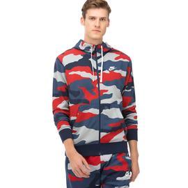 Nike Club Hoodie Fz Ft Camo Erkek Beyaz Fermuarlı Sweatshirt