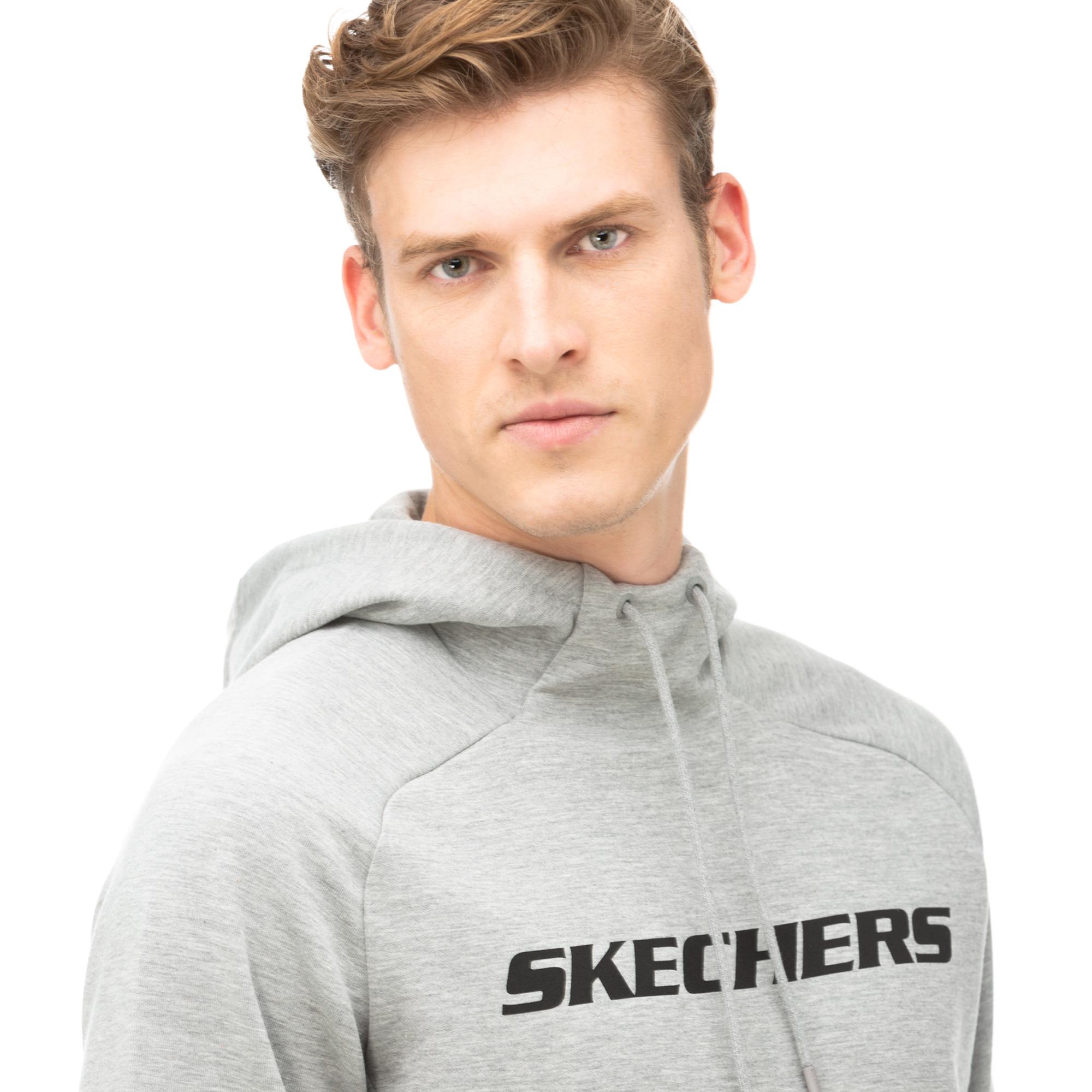 Skechers 2X I-Lock FLX Gri Erkek Sweatshirt