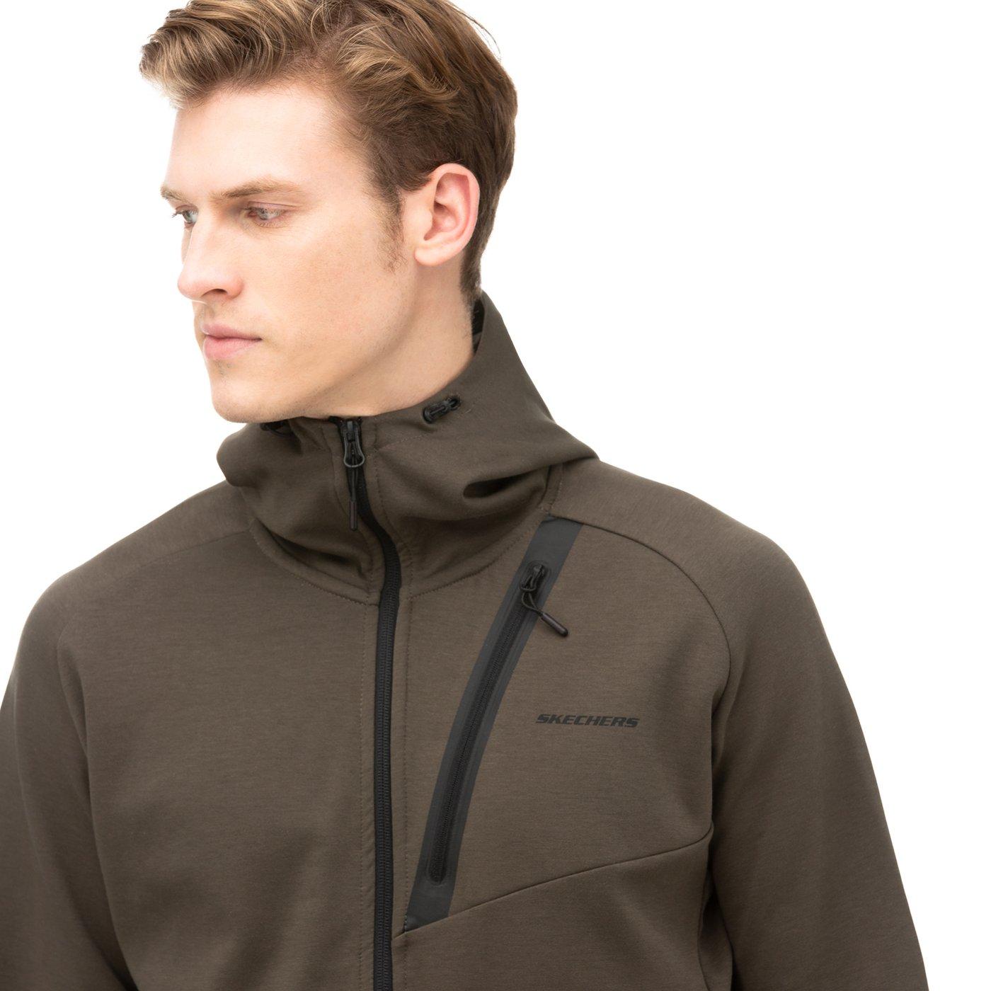 Skechers 2X I-Lock FZ Yeşil Erkek Sweatshirt