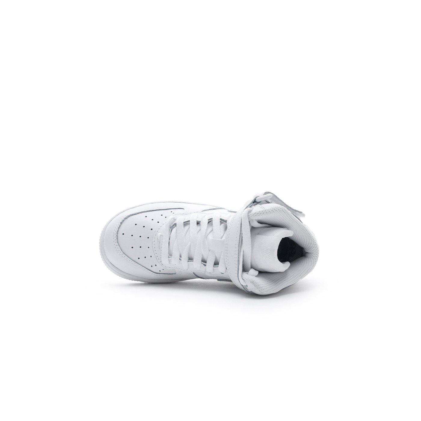 Nike Force 1 Mid Pre-School Çocuk Beyaz Sneaker