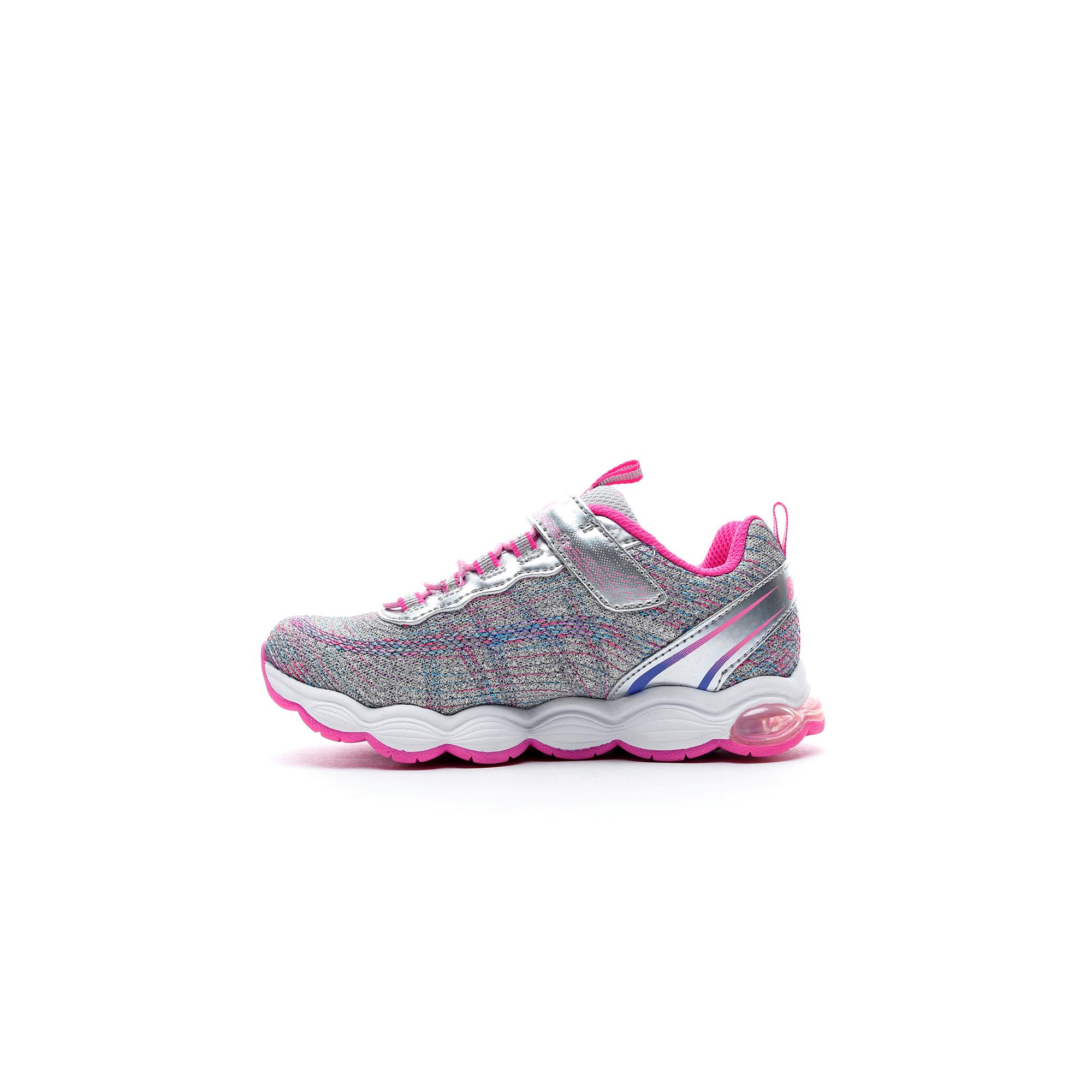 Skechers Air Lites Işıklı Kız Çocuk Gri-Pembe Spor Ayakkabı