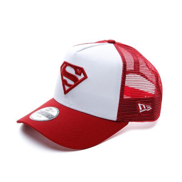 New Era Superman Trucker Çocuk Beyaz-Kırmızı Şapka