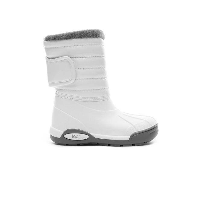 Igor Topo Ski Charol Beyaz Çocuk Yağmur Botu