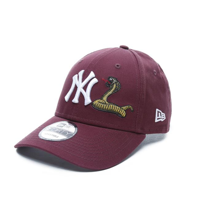 New Era New York Yankees Snake 9Forty Unisex Bordo Şapka