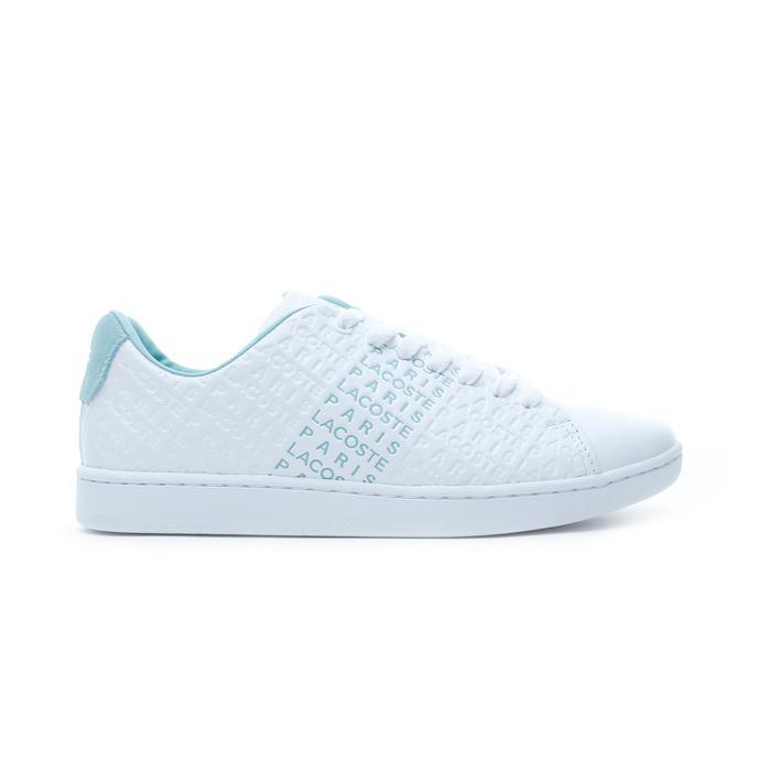 Lacoste Carnaby Evo Kadın Beyaz - Yeşil Spor Ayakkabı