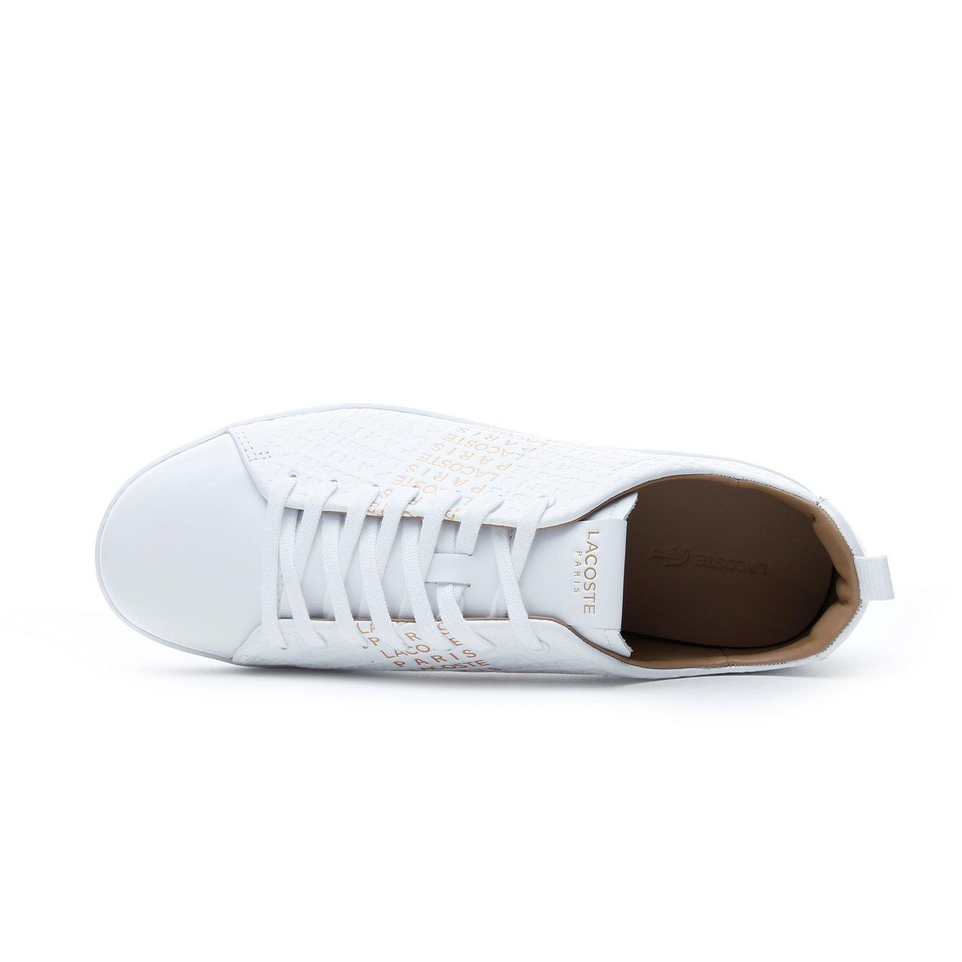 Lacoste Carnaby Evo Erkek Beyaz - Sarı Günlük Ayakkabı