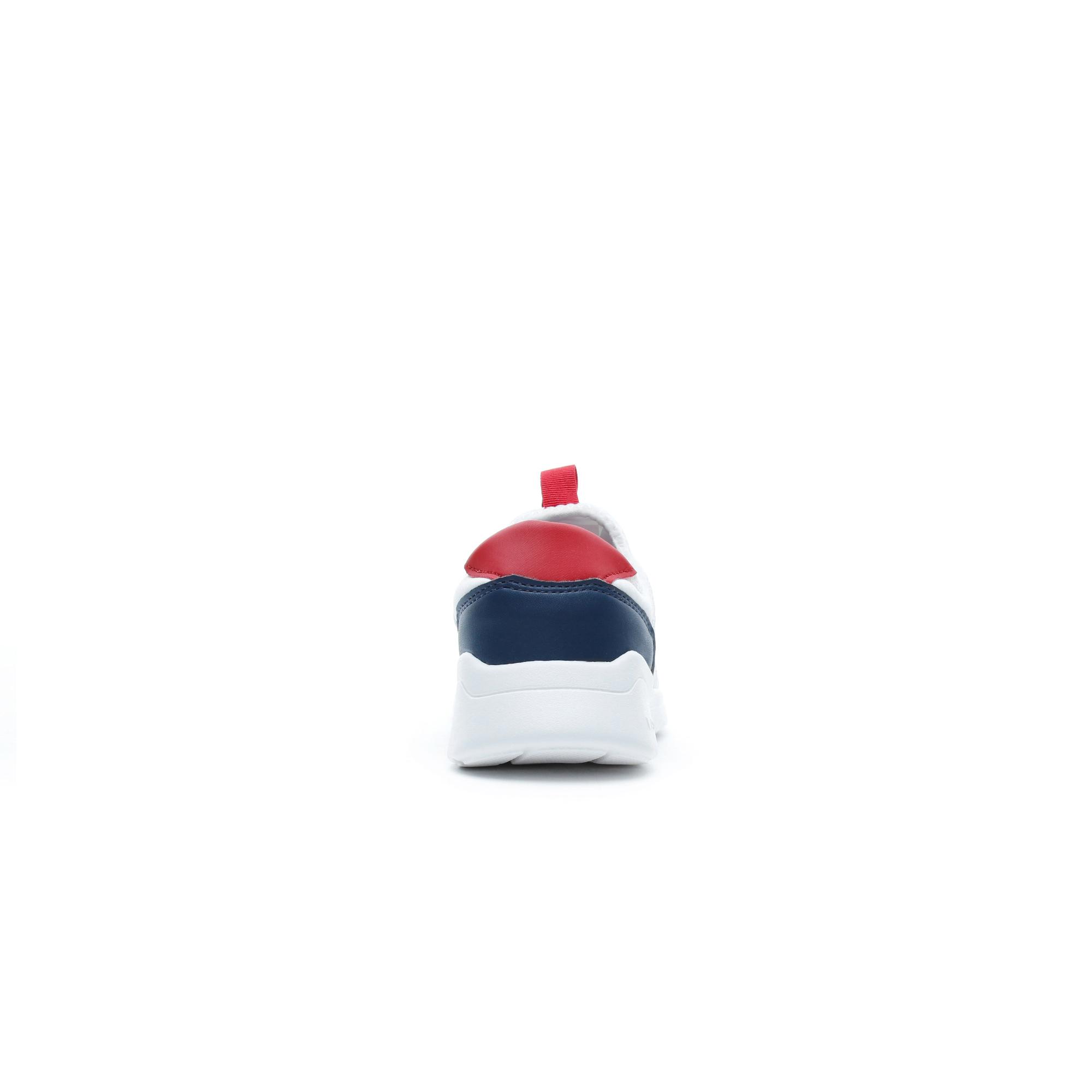 Lacoste Lt Dash Çocuk Beyaz - Lacivert - Kırmızı Spor Ayakkabı