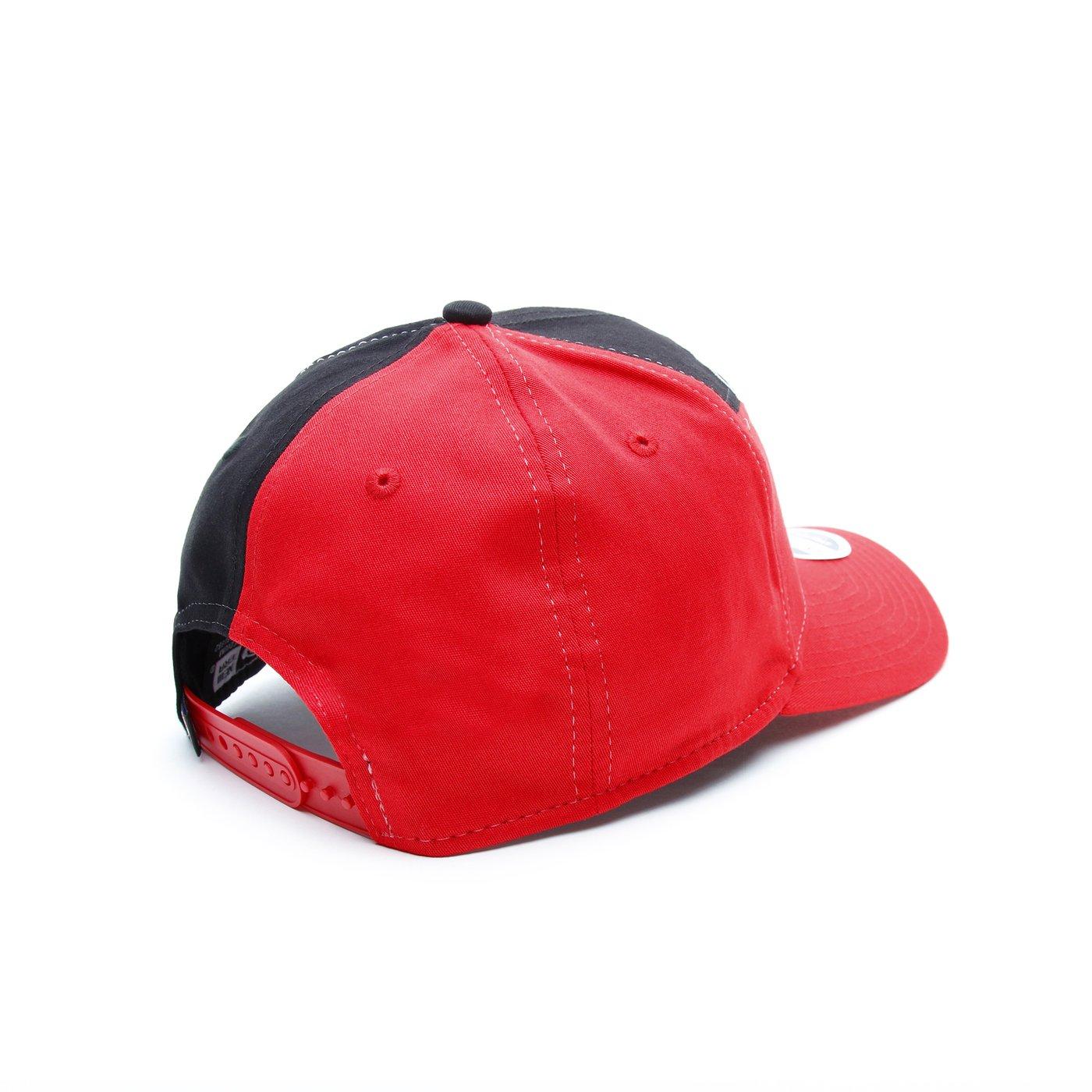 New Era Chicago Bulls Split Stretch Unisex Siyah-Kırmızı Şapka