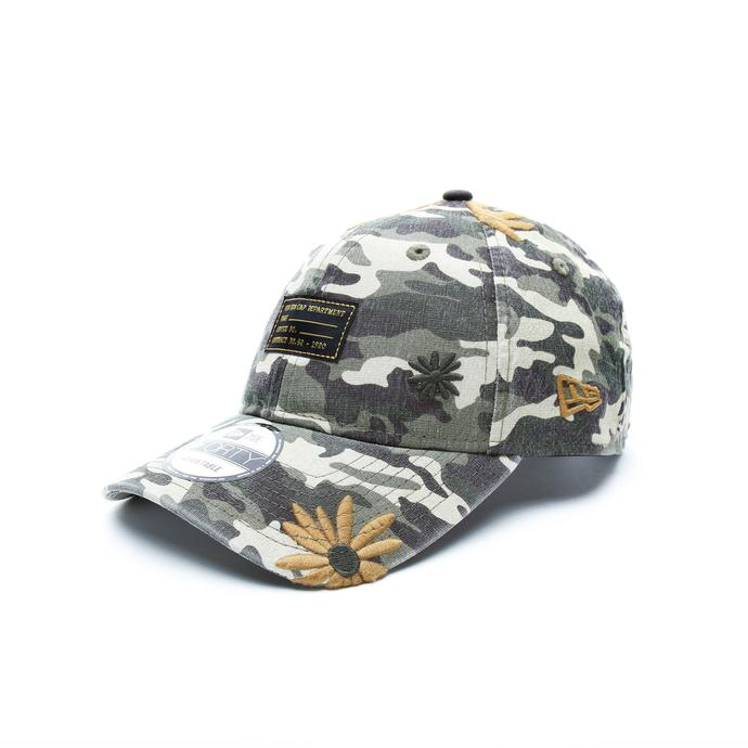 New Era Military Flower Forest Unisex Kahverengi Şapka