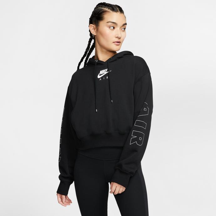 Nike Sportswear Air Fleece Kadın Siyah Kapüşonlu Sweatshirt