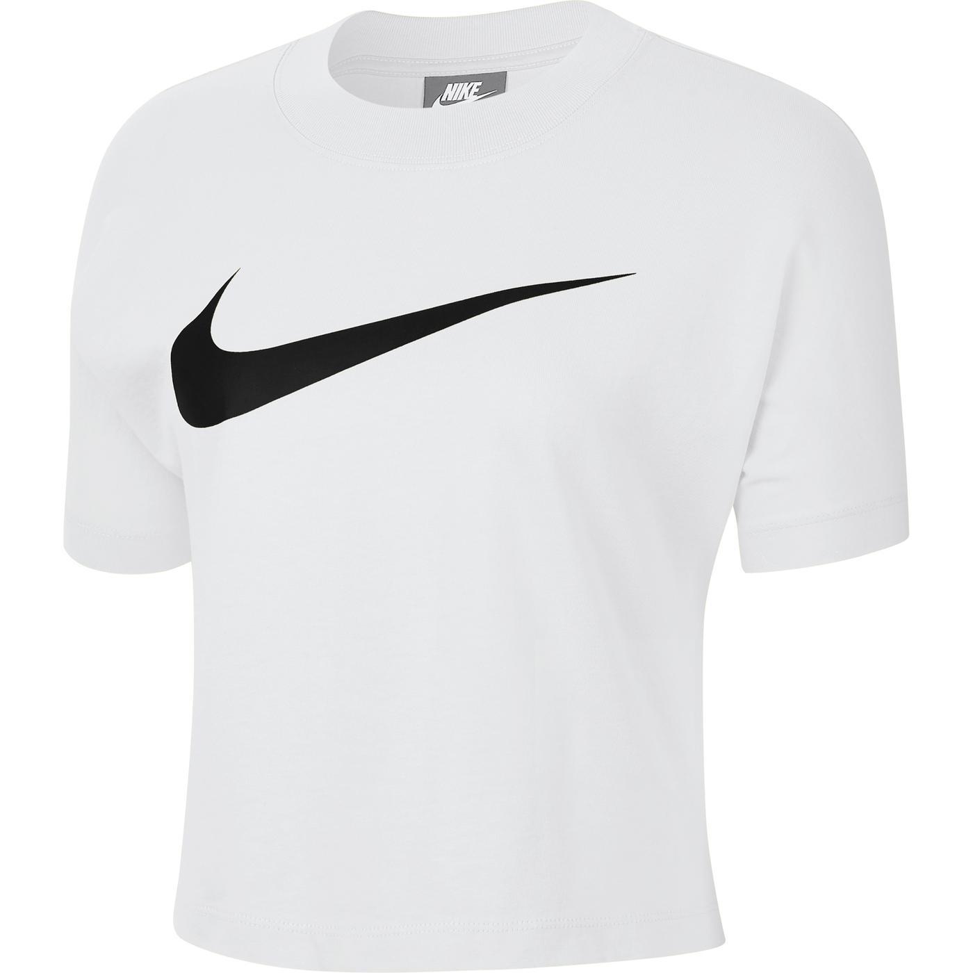 Nike Sportswear Swoosh Kadın Beyaz T-Shirt