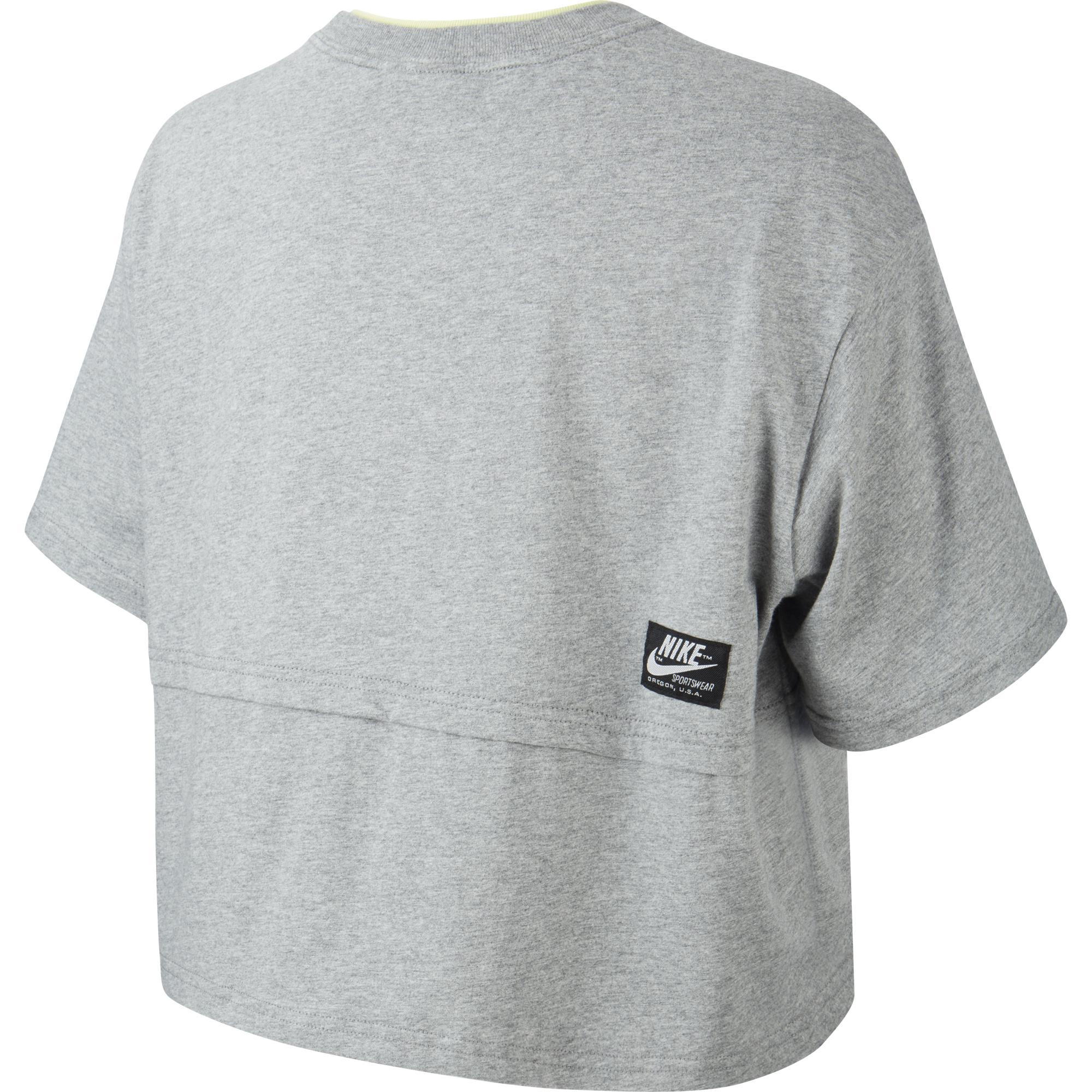 Nike Sportswear Kadın Gri T-Shirt