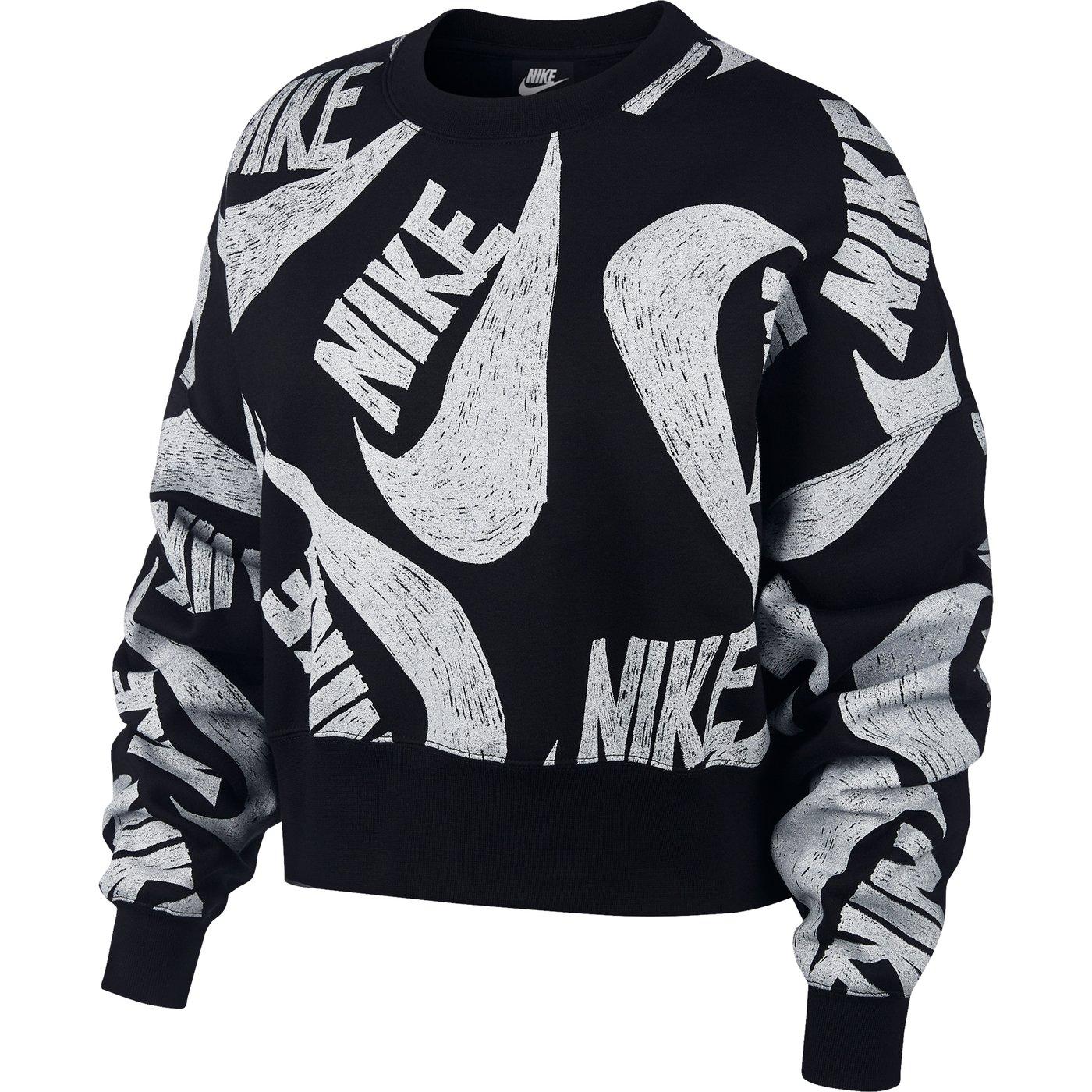 Nike Sportswear Fleece Crew Kadın Siyah Sweatshirt