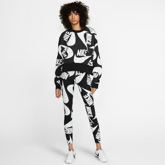 Nike Sportswear Kadın Siyah-Beyaz Tayt