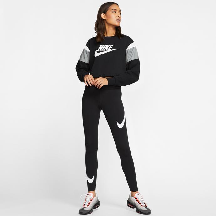 Nike Sportswear Swoosh Leg-A-See Kadın Siyah Tayt