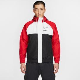Nike Sportswear Swoosh Erkek Kırmızı-Siyah Ceket