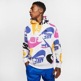 Nike Sportswear Club Erkek Mavi Kapüşonlu Sweatshirt