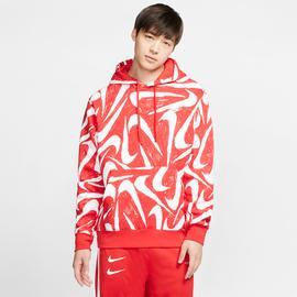 Nike Sportswear Club Erkek Kırmızı Kapüşonlu Sweatshirt