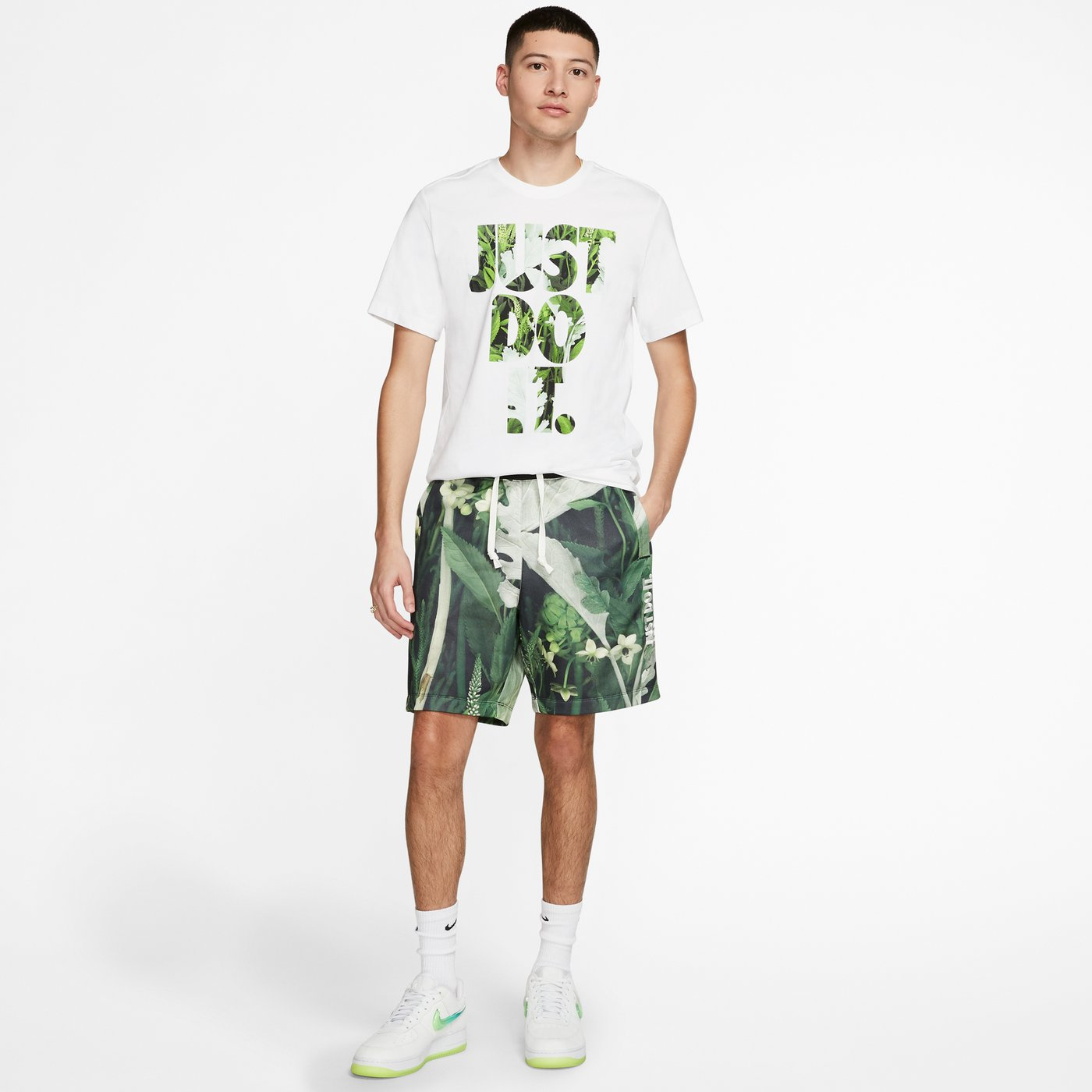 Nike Sportswear JDI Erkek Beyaz T-Shirt