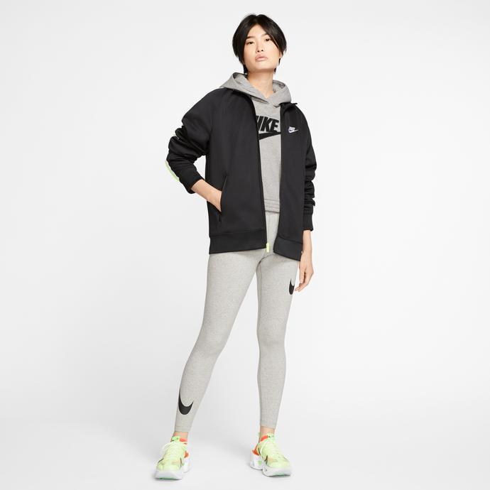 Nike Sportswear Swoosh Leg-A-See Kadın Gri Tayt
