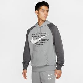 Nike Sportswear Swoosh Erkek Gri Kapüşonlu Sweatshirt