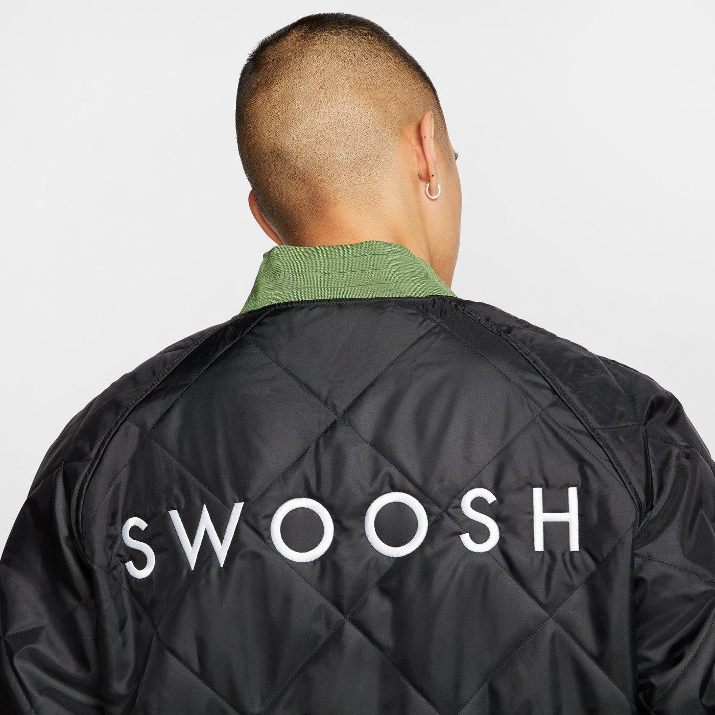 Nike Sportswear Swoosh Bomber Çift Taraflı Erkek Yeşil-Siyah Ceket