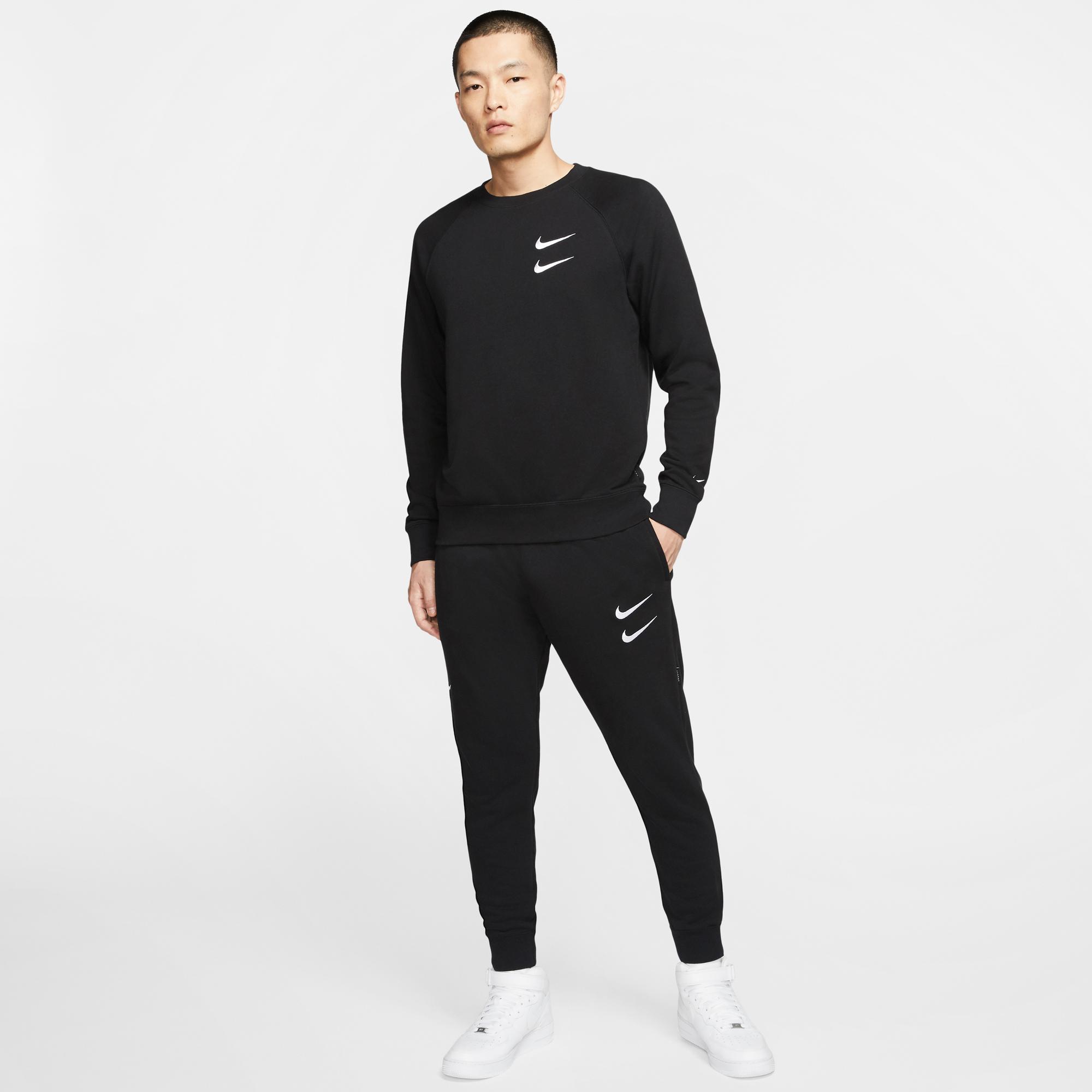 Nike Sportswear Swoosh Erkek Siyah Eşofman Altı