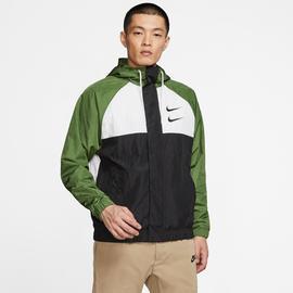 Nike Sportswear Swoosh Erkek Yeşil-Siyah Ceket