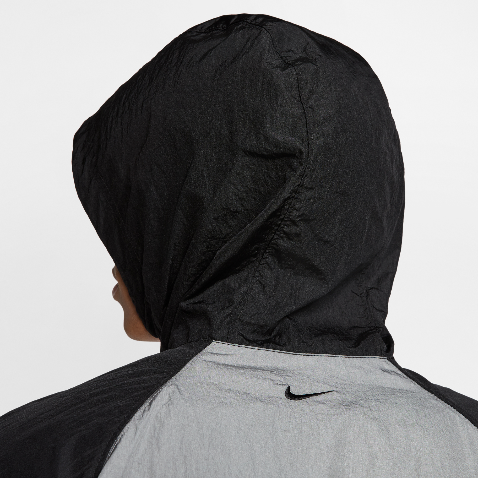 Nike Sportswear Swoosh Erkek Siyah-Gri Ceket