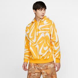 Nike Sportswear Club Erkek Sarı Kapüşonlu Sweatshirt