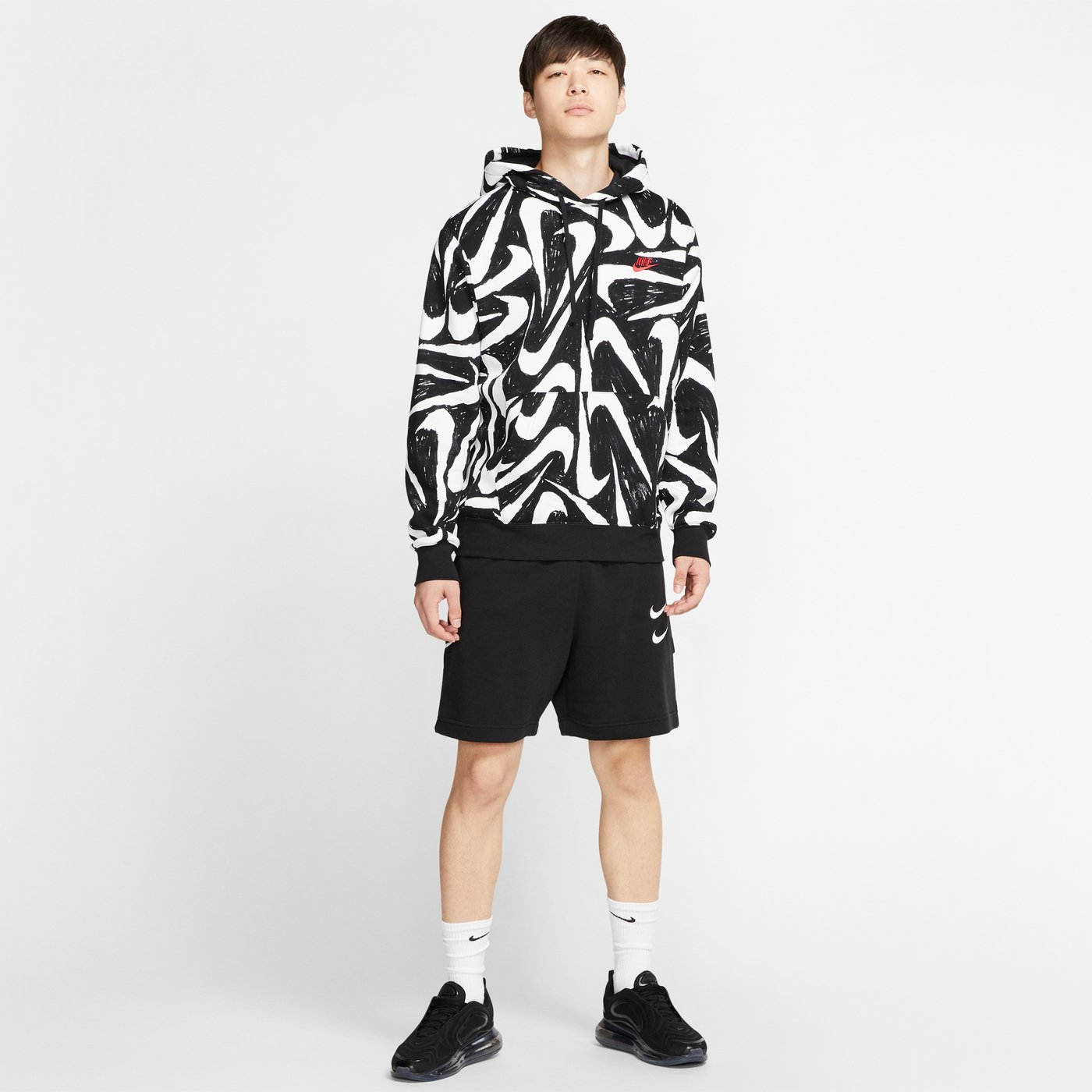 Nike Sportswear Club Erkek Siyah Kapüşonlu Sweatshirt