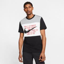 Nike Sportswear Swoosh Erkek Siyah-Gri T-Shirt