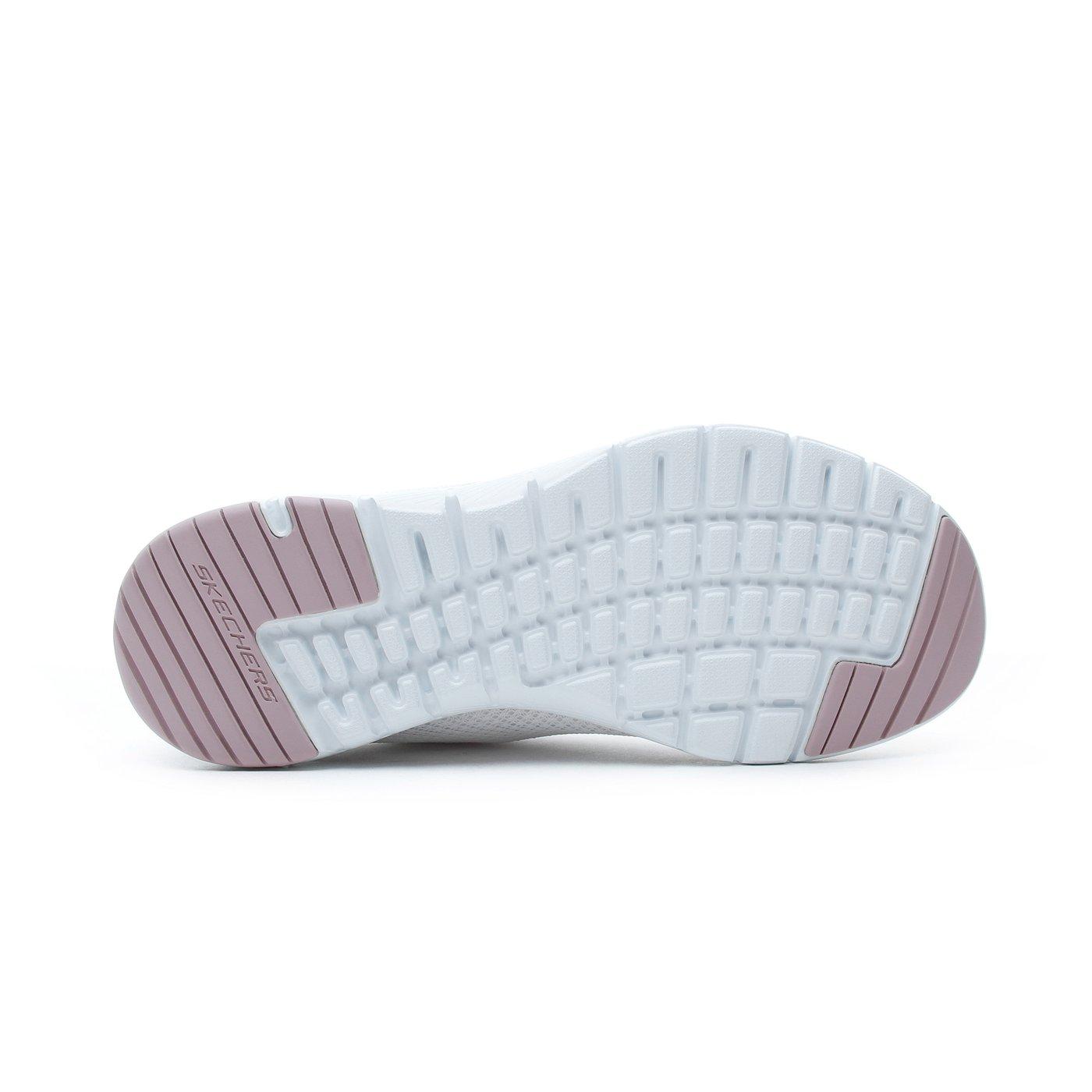 Skechers Flex Appeal 3.0 Kadın Beyaz Pembe-Altın Spor Ayakkabı