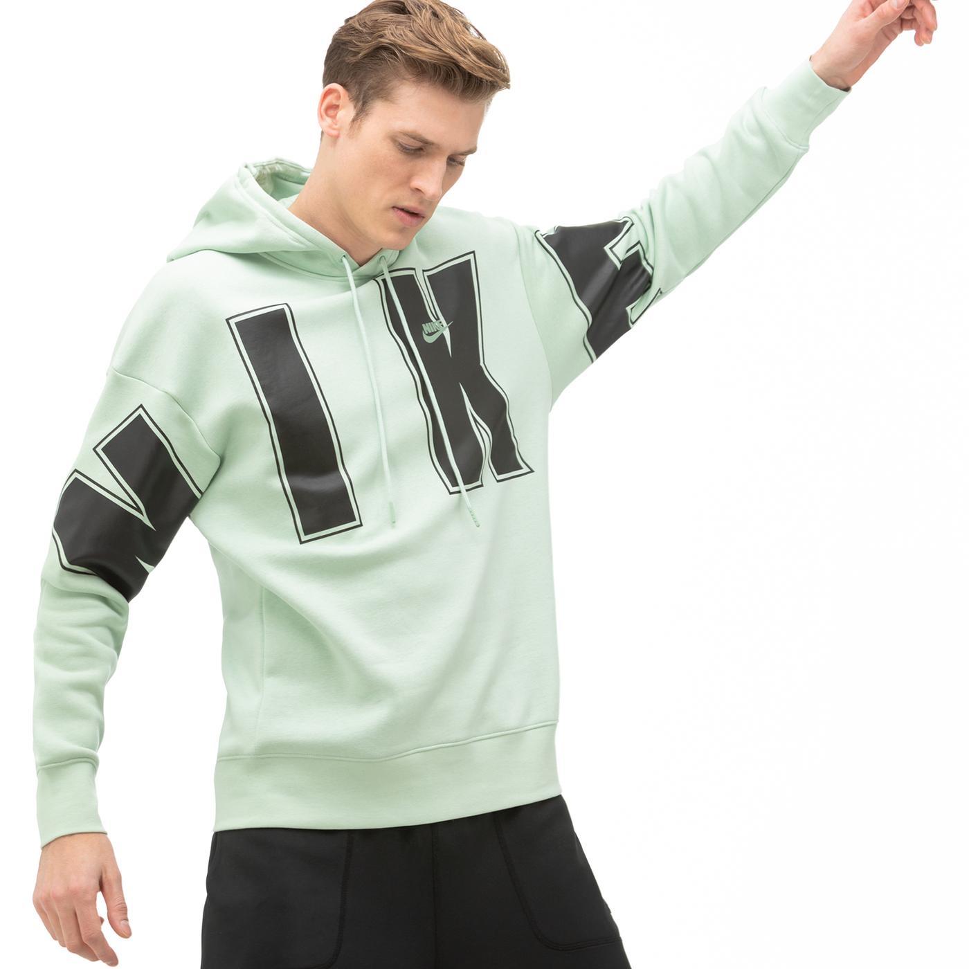 Nike Fleece Yeşil Erkek Sweatshirt